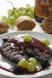 Wild Boar In Blackberry Sauce by neongeisha