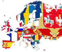 Flag Map of Europe by Escodrion