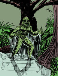 Creature from the Black Lagoon by daybrache