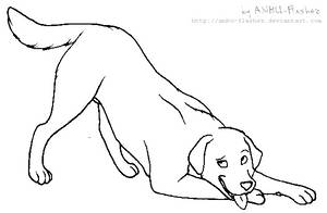 lineart - Labrador Retriever by ANBU-Flashez