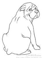 lineart - English Bulldog by ANBU-Flashez