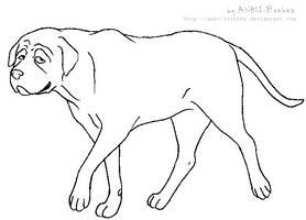 Lineart - Mastiff by ANBU-Flashez