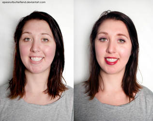 Before and After makeup-Faith by Apeanutbutterfiend