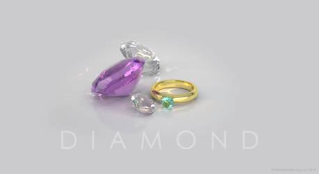 Ring Diamond Wallpaper by Frienddesign