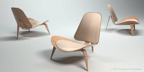 Armchair-3D 003 by Frienddesign