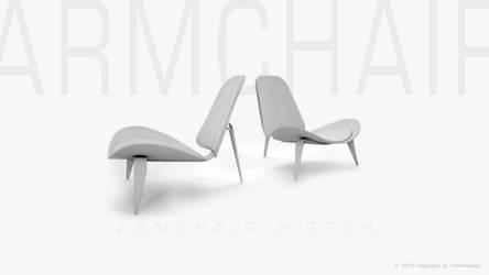 Armchair-3D-HiTech2 by Frienddesign