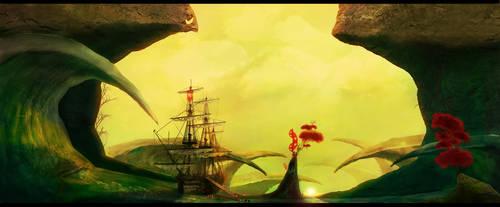 The Jade Sea - Unwaking Waves by Borruen