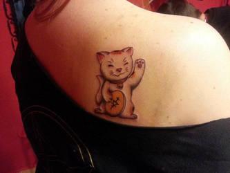 Maneki Neko Tattoo by LordessSkadi