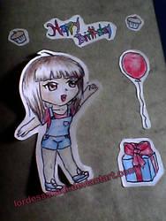 Lexu chibi - birthday card by LordessSkadi