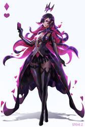 Poker Queen------Black by STEVE-Zheng