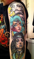 Fantasy Tattoo by MagicCrazyMagician
