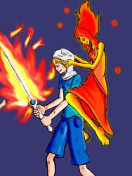 Finn X Flame Princess by salamander0807