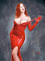 Bianca in red latex by shed2602