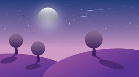 A Purple Night - VECTOR ART by AngusWW