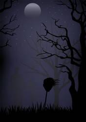 Spooky Night Scene - VECTOR ART by AngusWW