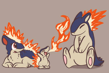 Cyndaquil learned flamethrower! by Neyonic