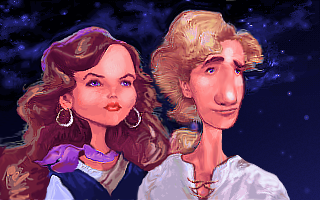 Guybrush and Elaine Caricature by JINNdev