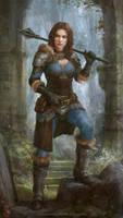 Warrior girl by Allnamesinuse