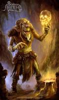 Goblin shaman by Allnamesinuse
