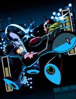 Megaman VS. Protoman by MaximoVLorenzo