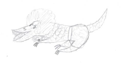 Baby Croc Doodle by VentusAquaTerra
