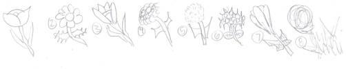 Quick Flowers Doodle by VentusAquaTerra