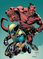 Wolverine and Hellboy by GiovaniKososki