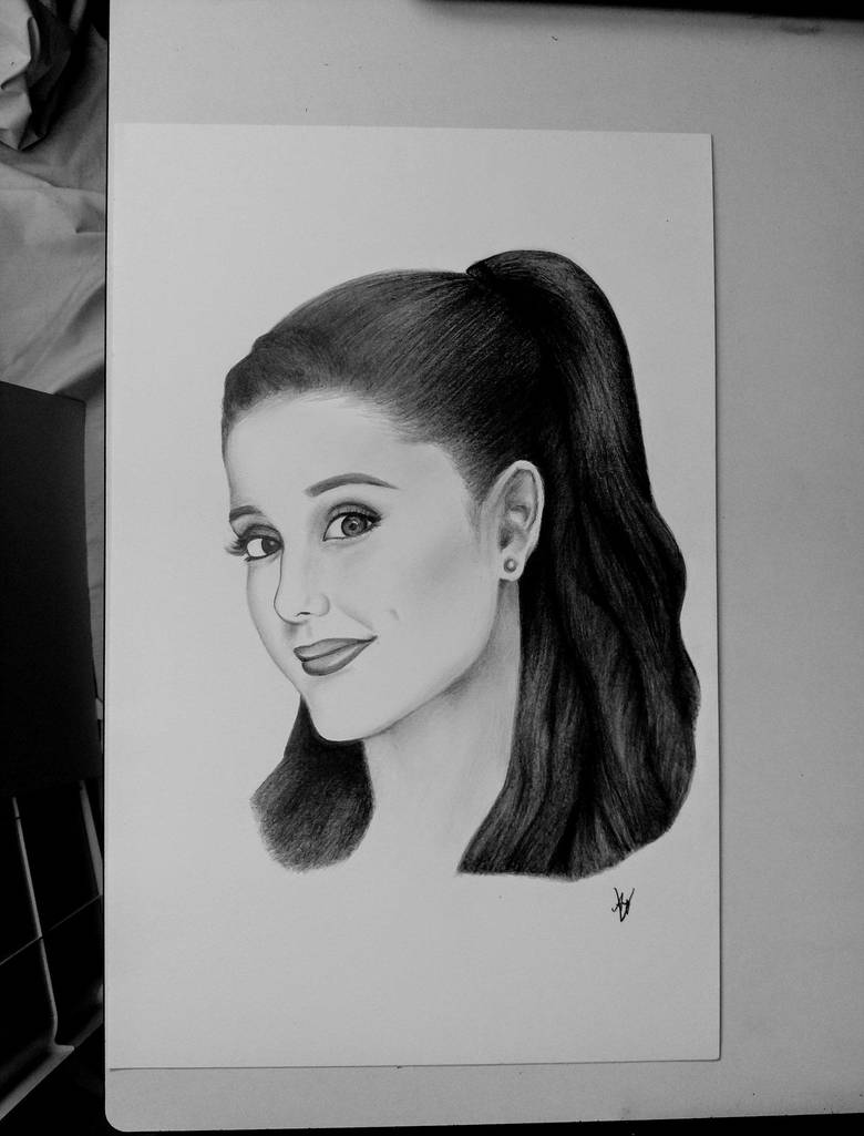 Ariana grande drawing by andyvrenditions