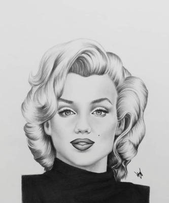 Marilyn Monroe Drawing by AndyVRenditions