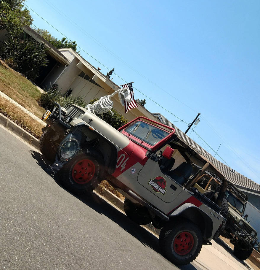 Jurrassicparkjeeps by AndyVRenditions