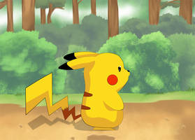 Pikachu In the Forest by TheGameJC