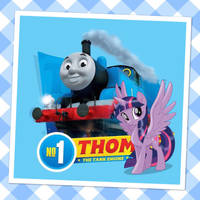 Thomas with Twilight Sparkle by RedEngineTommy8