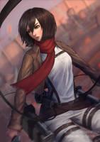 Mikasa fanart by Maddskiart
