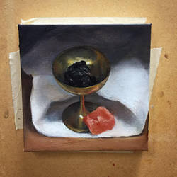 Still Life Painting: Goblet with minerals by danitiwa