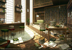 The Library Coffee Shop by zhowee14