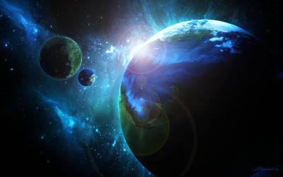 In Space's depths by CvetiM