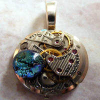 Mechanical Earth Glass Pendant by Create-A-Pendant