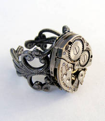 Steampunk Adjustable Ring... by Create-A-Pendant