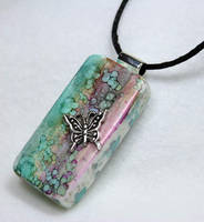 Butterfly Domino Pendant 3 by Create-A-Pendant