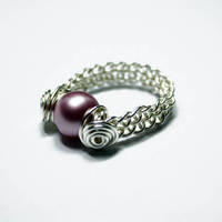 Weaved Freshwater Pearl Ring by Create-A-Pendant