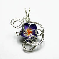 Wire Wrap Flower Pendant 4 by Create-A-Pendant