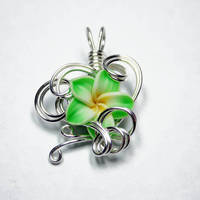 Wire Wrap Flower Pendant 7 by Create-A-Pendant
