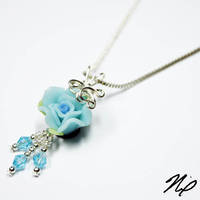 New Blue Rose Perfume Pendant by Create-A-Pendant