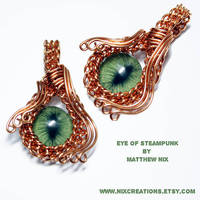 Evil Eye of Steampunk Pendant by Create-A-Pendant