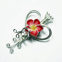Custom Valentine Tropical Flower Perfume Pendant by Create-A-Pendant
