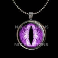Purple Dragon Glass Eye Pendant by Create-A-Pendant