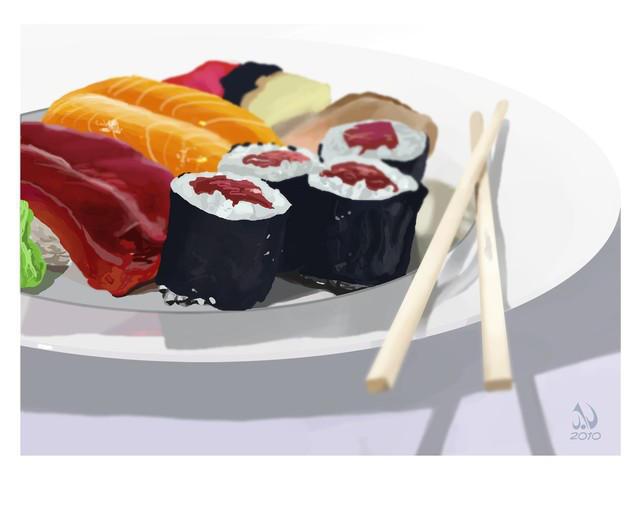 Sushi still life by JaimeNieves