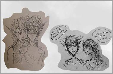 Caim And Casper Sketches by inanoakuma