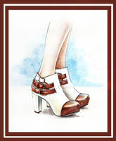 Carla Lima Shoes illustration by Tania-S