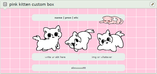 pink kitten custom box code [ftu] by qrassy